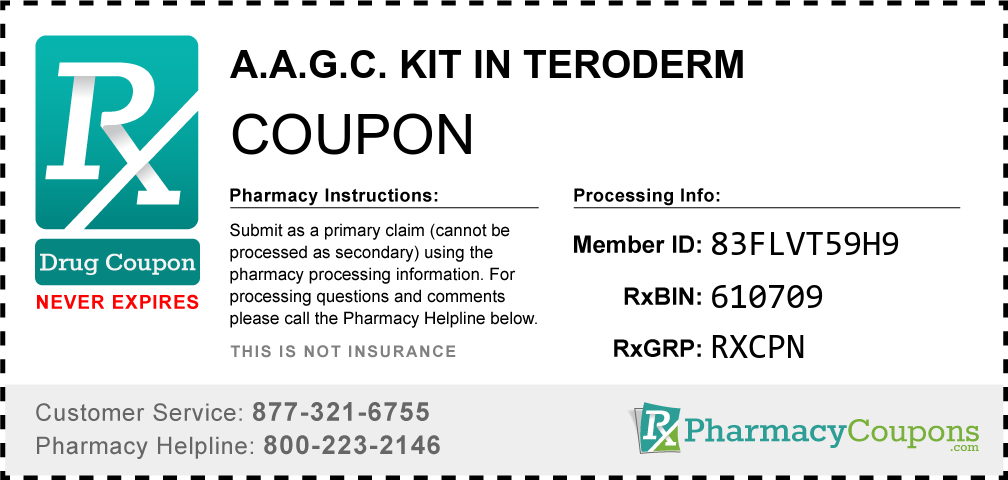 A.a.g.c. kit in teroderm Prescription Drug Coupon with Pharmacy Savings