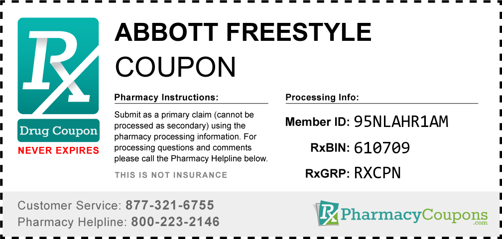 Abbott freestyle Prescription Drug Coupon with Pharmacy Savings
