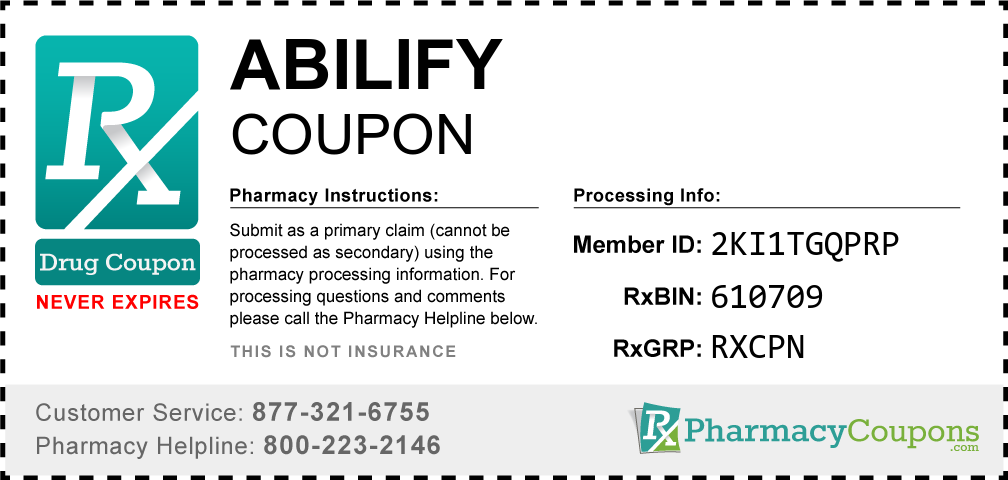 Abilify Prescription Drug Coupon with Pharmacy Savings