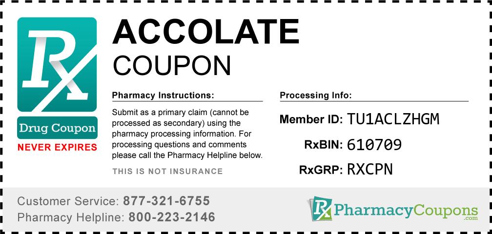 Accolate Prescription Drug Coupon with Pharmacy Savings