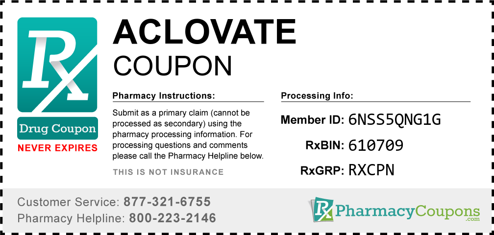 Aclovate Prescription Drug Coupon with Pharmacy Savings