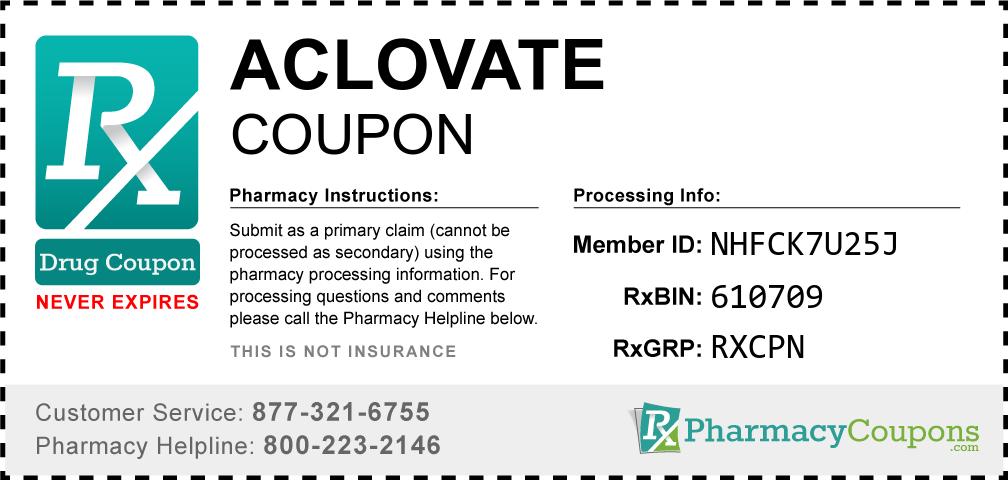 Aclovate Prescription Drug Coupon with Pharmacy Savings