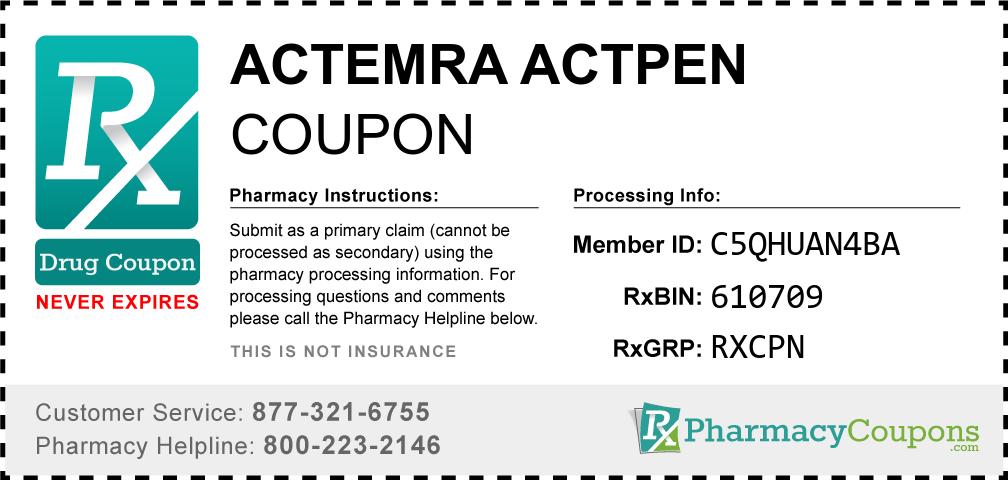 Actemra actpen Prescription Drug Coupon with Pharmacy Savings