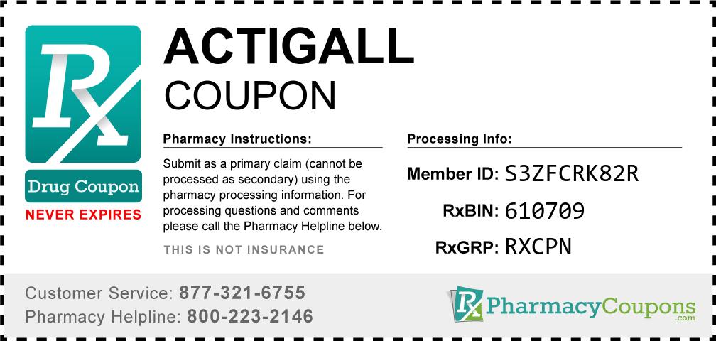 Actigall Prescription Drug Coupon with Pharmacy Savings