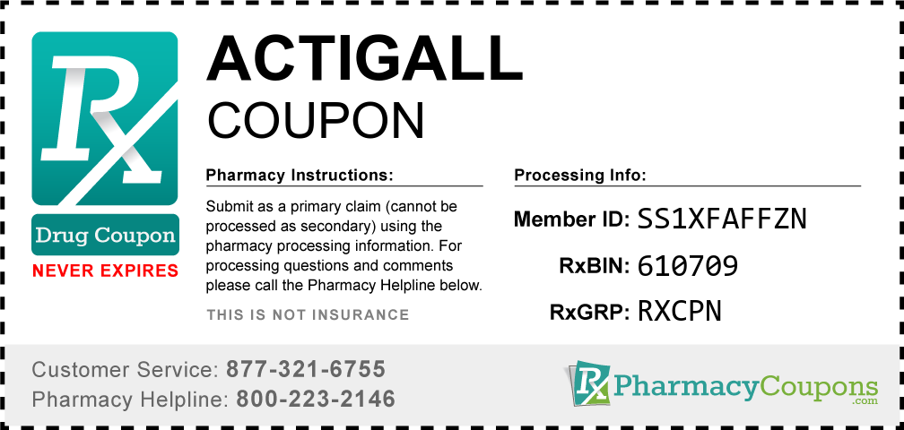 Actigall Prescription Drug Coupon with Pharmacy Savings