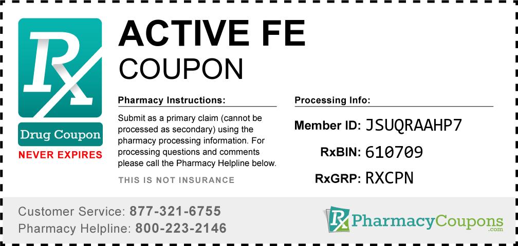 Active fe Prescription Drug Coupon with Pharmacy Savings