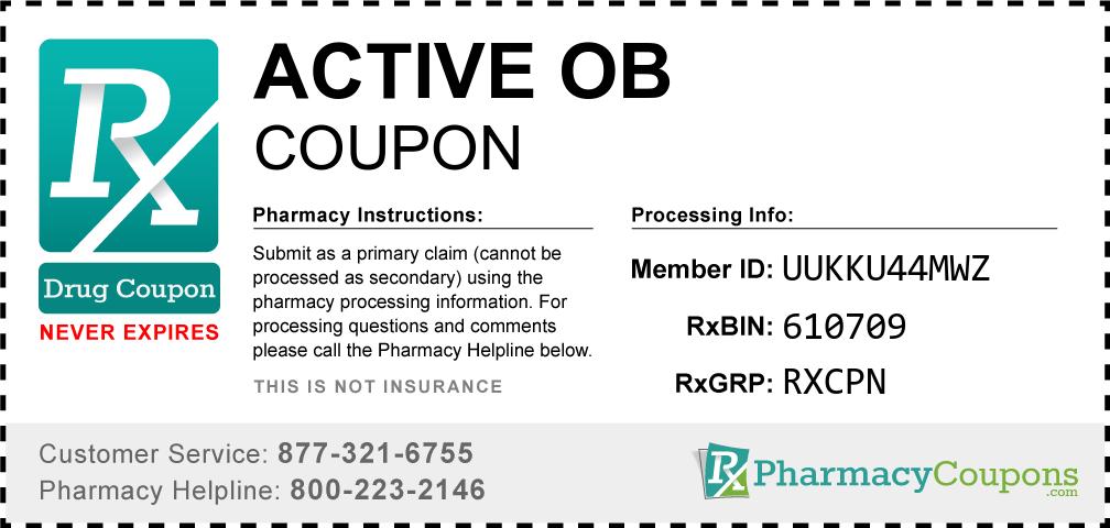 Active ob Prescription Drug Coupon with Pharmacy Savings