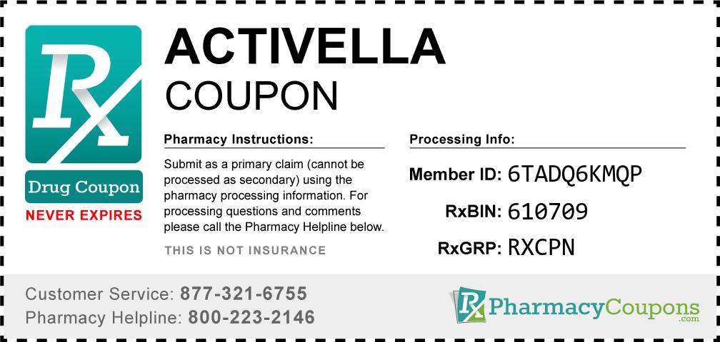 Activella Prescription Drug Coupon with Pharmacy Savings