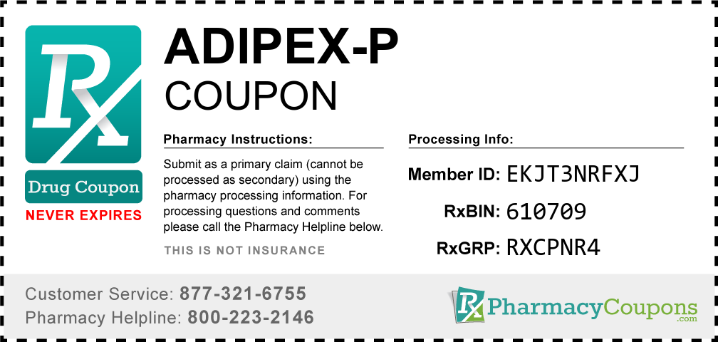 Adipex-p Prescription Drug Coupon with Pharmacy Savings