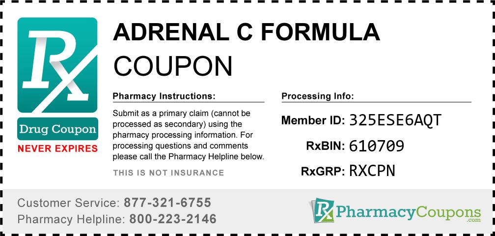Adrenal c formula Prescription Drug Coupon with Pharmacy Savings