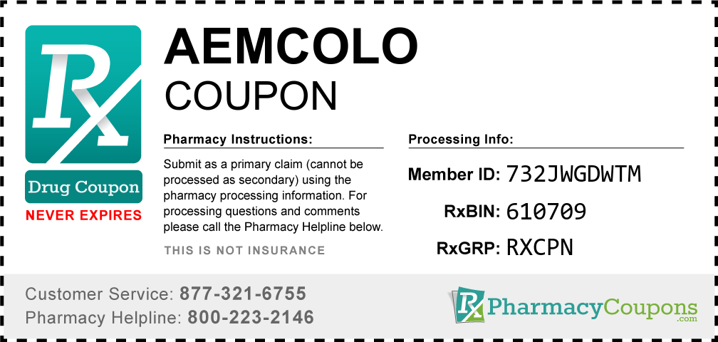 Aemcolo Prescription Drug Coupon with Pharmacy Savings