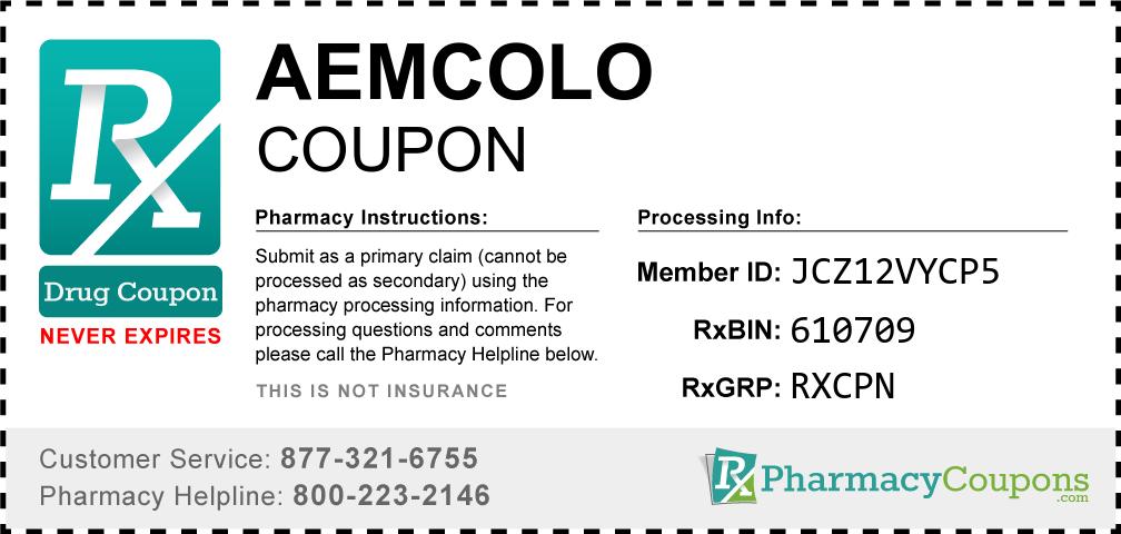 Aemcolo Prescription Drug Coupon with Pharmacy Savings