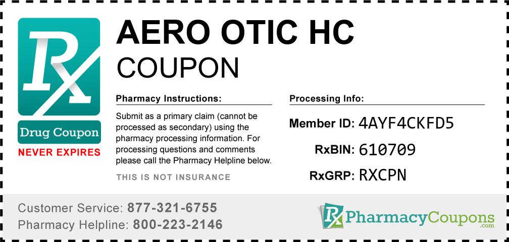 Aero otic hc Prescription Drug Coupon with Pharmacy Savings