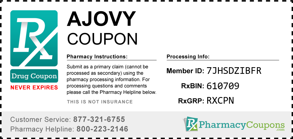 Ajovy Prescription Drug Coupon with Pharmacy Savings