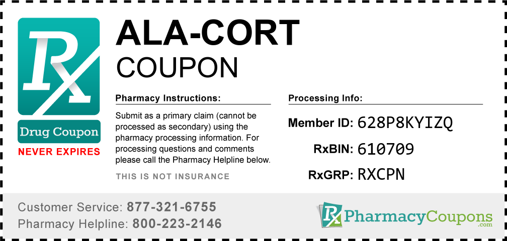 Ala-cort Prescription Drug Coupon with Pharmacy Savings