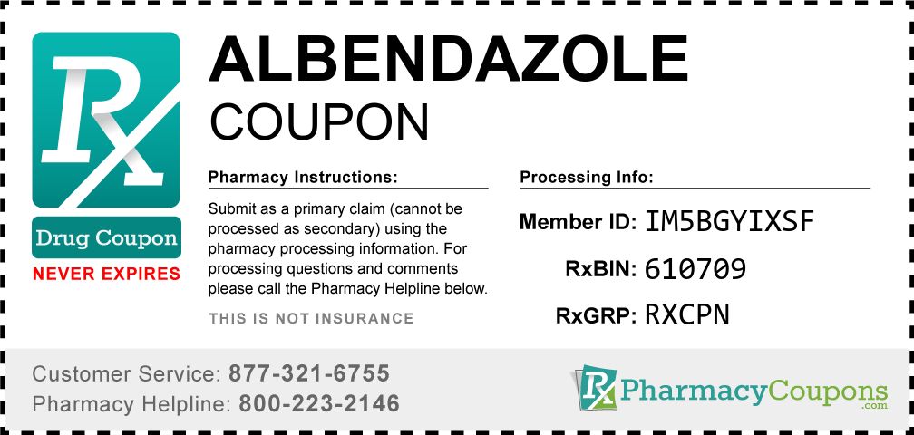Albendazole Prescription Drug Coupon with Pharmacy Savings