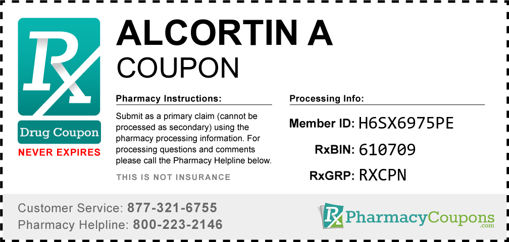 Alcortin a Prescription Drug Coupon with Pharmacy Savings