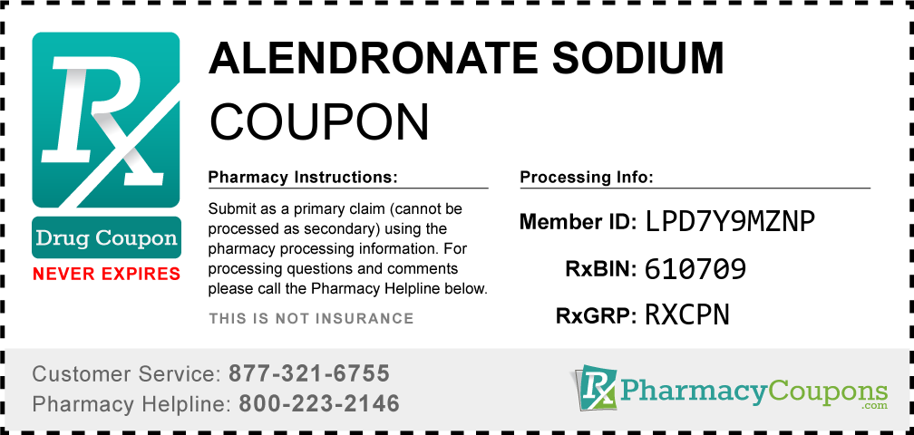 Alendronate sodium Prescription Drug Coupon with Pharmacy Savings