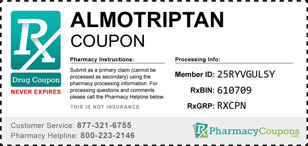 Almotriptan Prescription Drug Coupon with Pharmacy Savings