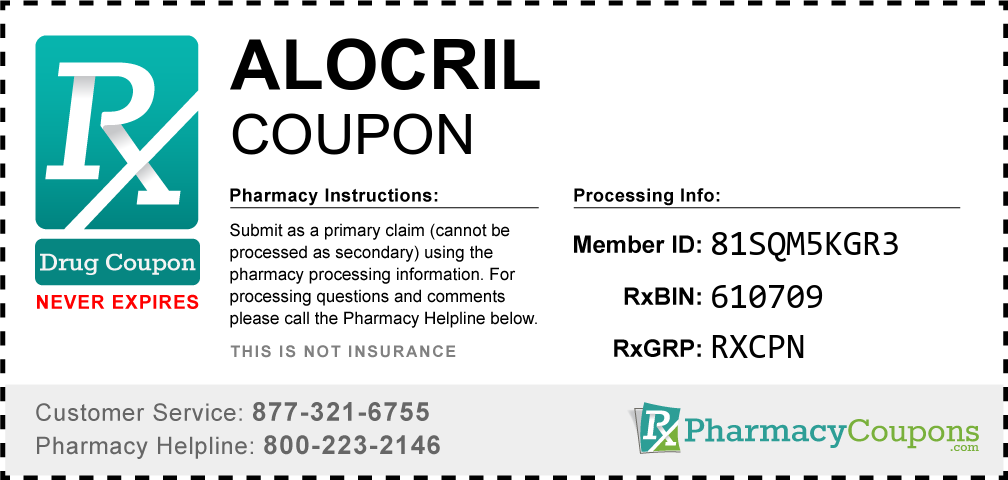 Alocril Prescription Drug Coupon with Pharmacy Savings