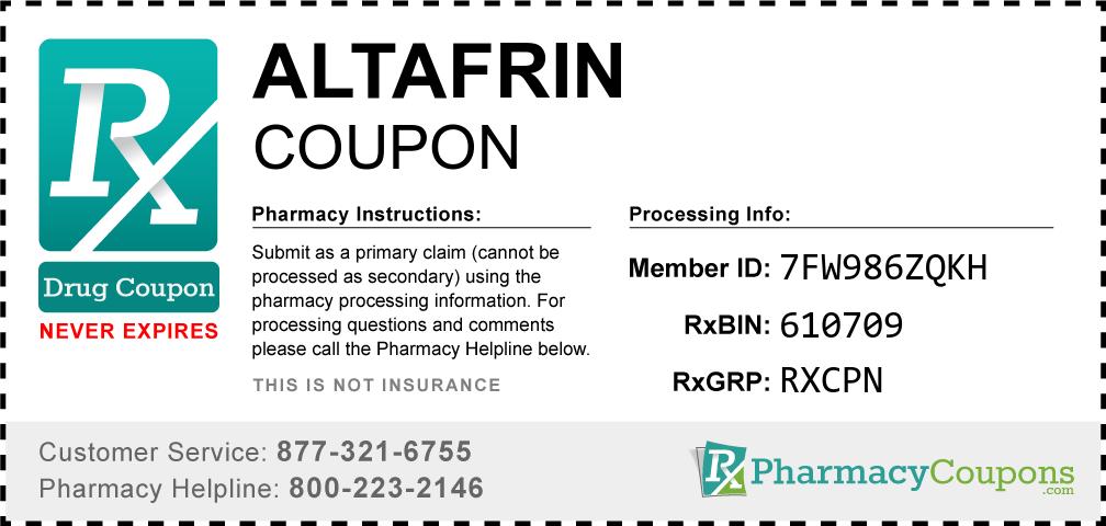 Altafrin Prescription Drug Coupon with Pharmacy Savings