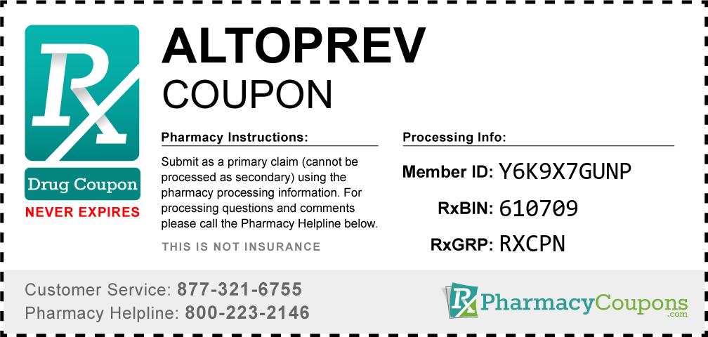 Altoprev Prescription Drug Coupon with Pharmacy Savings