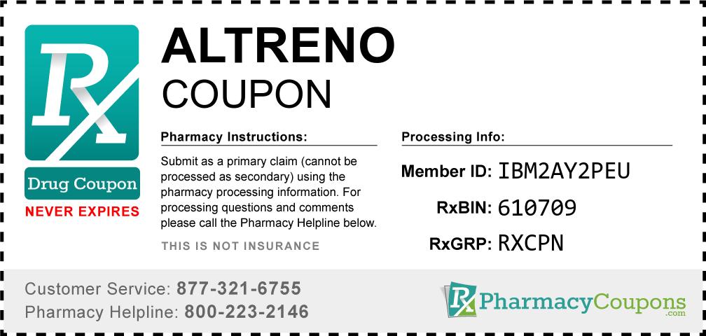 Altreno Prescription Drug Coupon with Pharmacy Savings