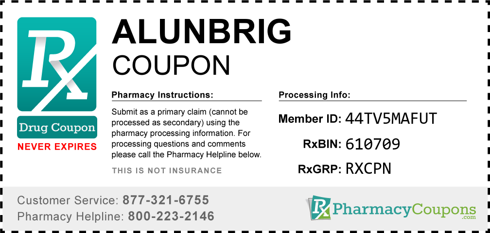 Alunbrig Prescription Drug Coupon with Pharmacy Savings