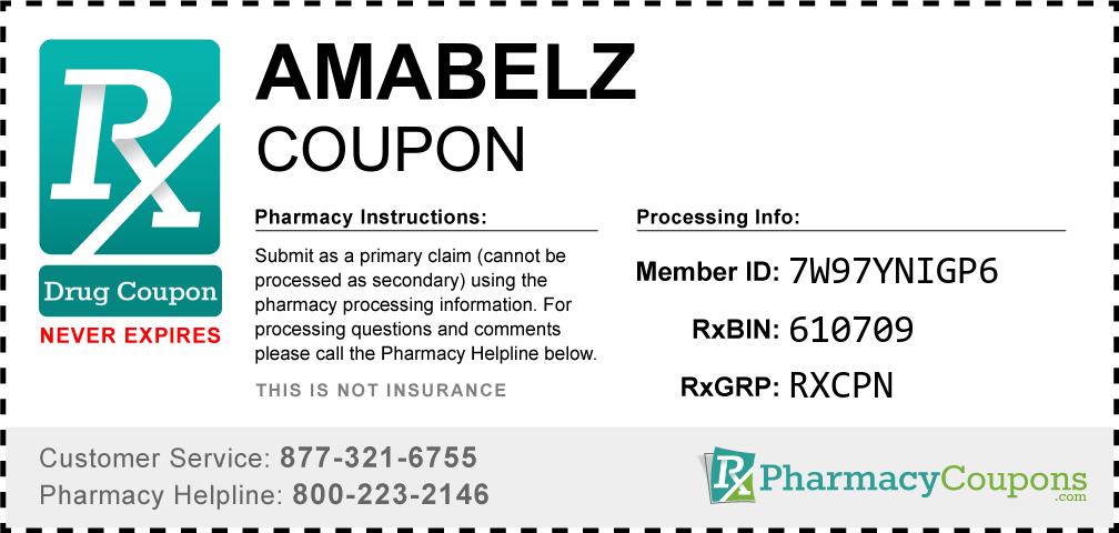 Amabelz Prescription Drug Coupon with Pharmacy Savings