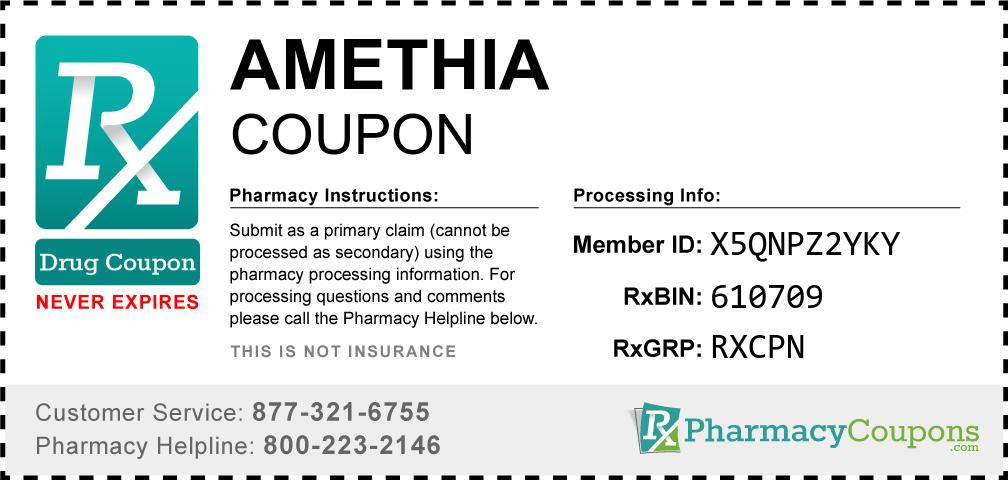 Amethia Prescription Drug Coupon with Pharmacy Savings