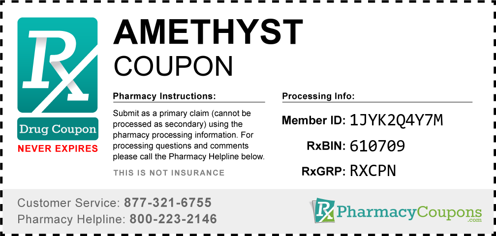 Amethyst Prescription Drug Coupon with Pharmacy Savings