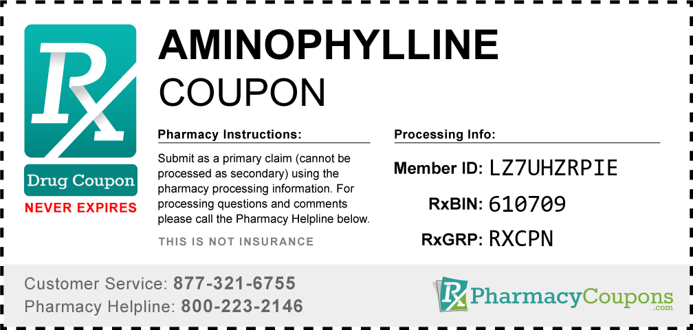 Aminophylline Prescription Drug Coupon with Pharmacy Savings