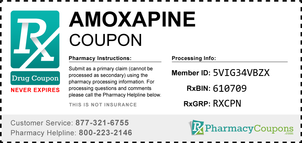 Amoxapine Prescription Drug Coupon with Pharmacy Savings