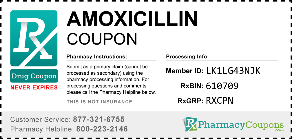 Amoxicillin Prescription Drug Coupon with Pharmacy Savings