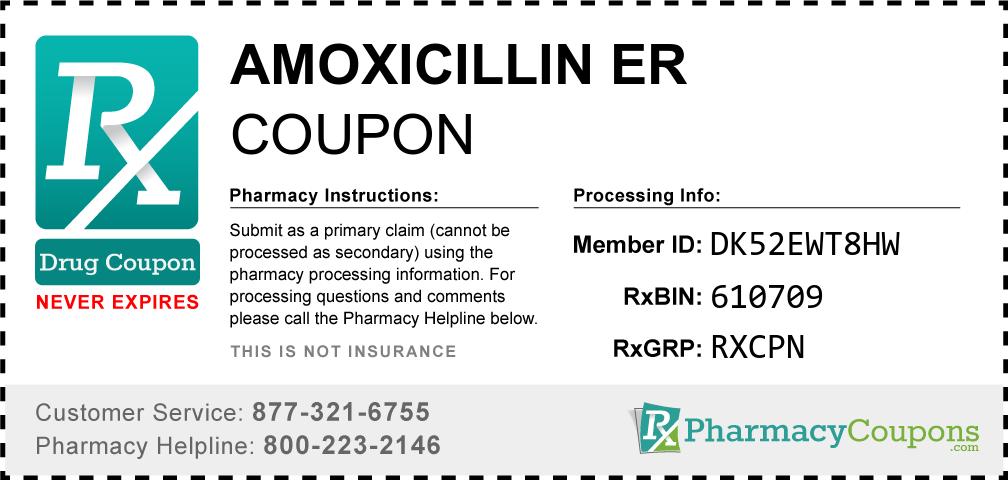 Amoxicillin er Prescription Drug Coupon with Pharmacy Savings