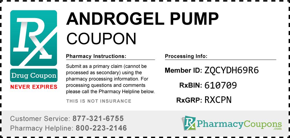 Androgel pump Prescription Drug Coupon with Pharmacy Savings