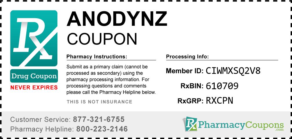 Anodynz Prescription Drug Coupon with Pharmacy Savings