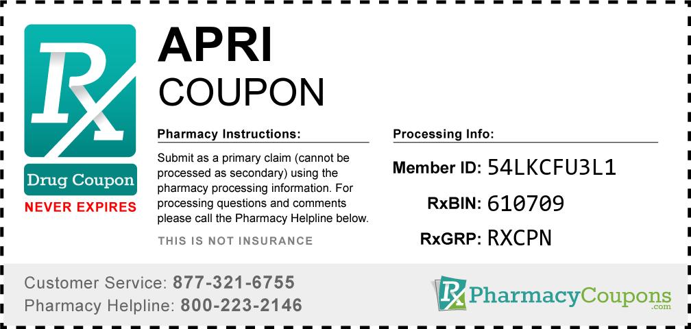 Apri Prescription Drug Coupon with Pharmacy Savings