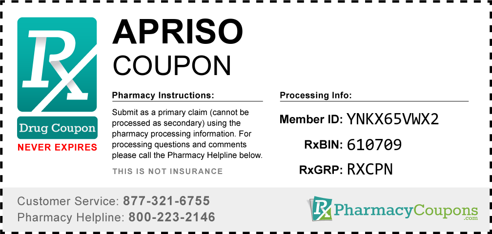 Apriso Prescription Drug Coupon with Pharmacy Savings