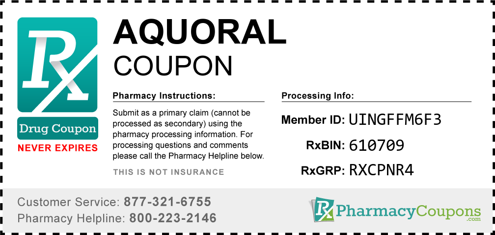 Aquoral Prescription Drug Coupon with Pharmacy Savings
