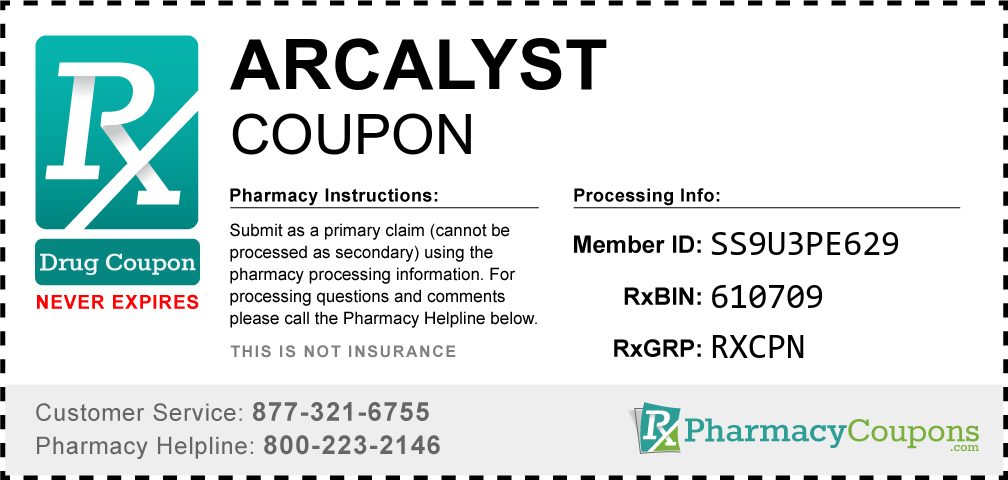 Arcalyst Prescription Drug Coupon with Pharmacy Savings