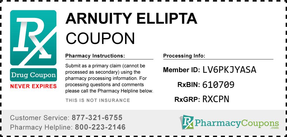 Arnuity ellipta Prescription Drug Coupon with Pharmacy Savings