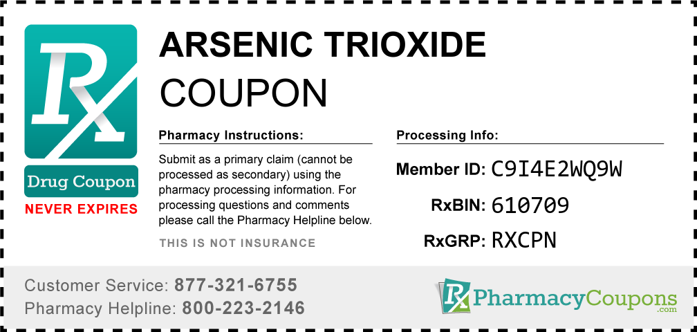 Arsenic trioxide Prescription Drug Coupon with Pharmacy Savings