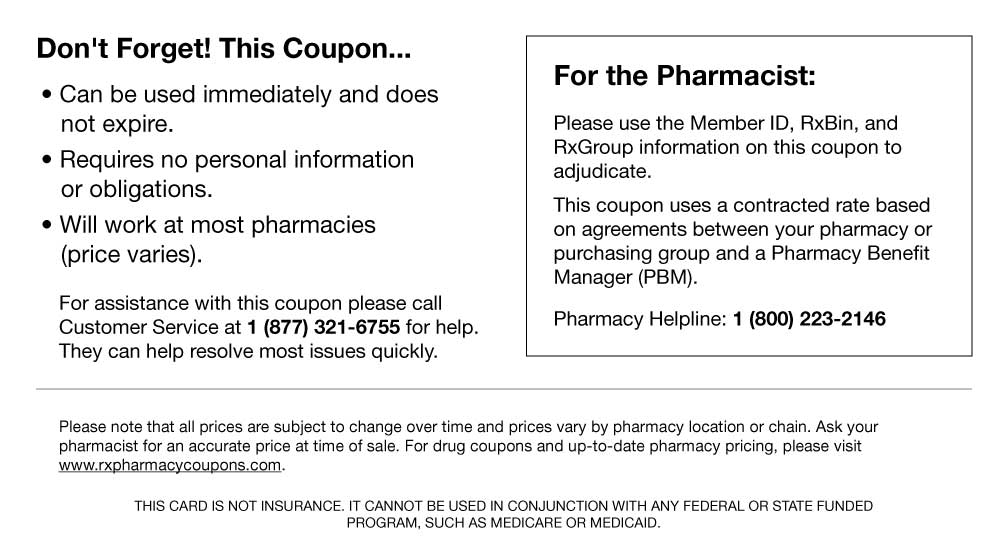 Coupon Instructions