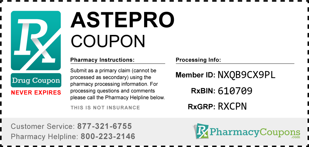 Astepro Prescription Drug Coupon with Pharmacy Savings