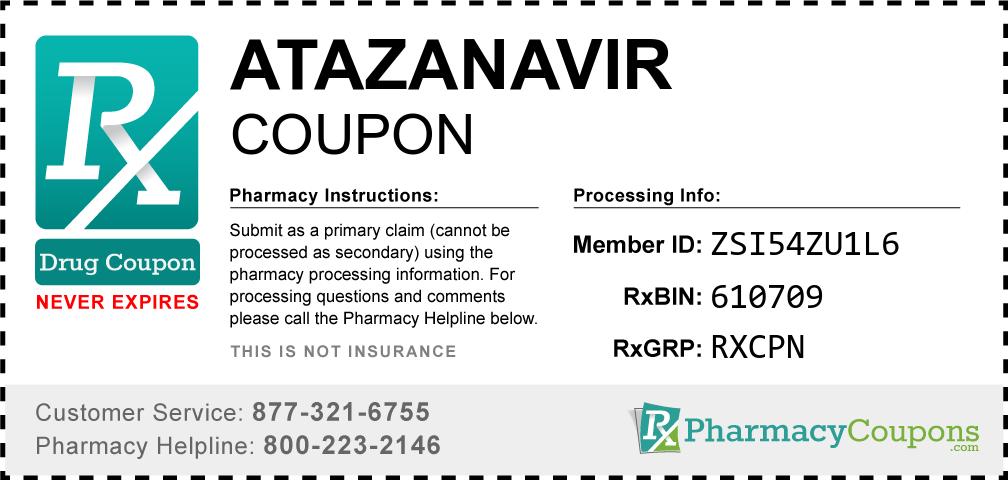 Atazanavir Prescription Drug Coupon with Pharmacy Savings