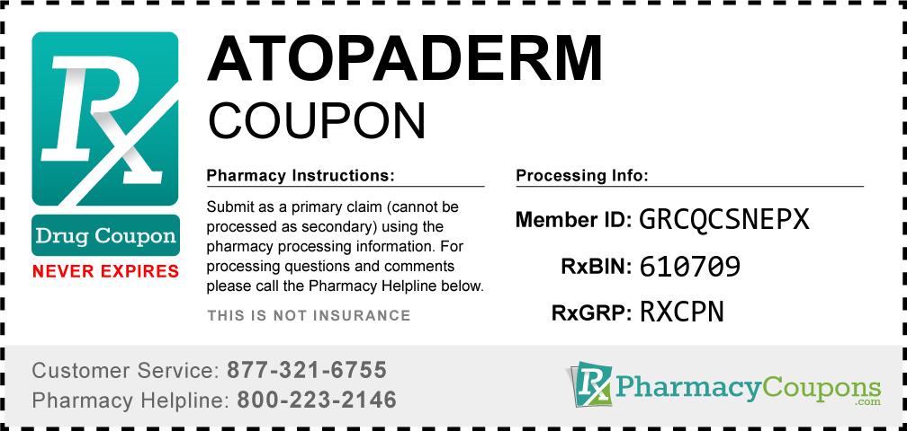 Atopaderm Prescription Drug Coupon with Pharmacy Savings