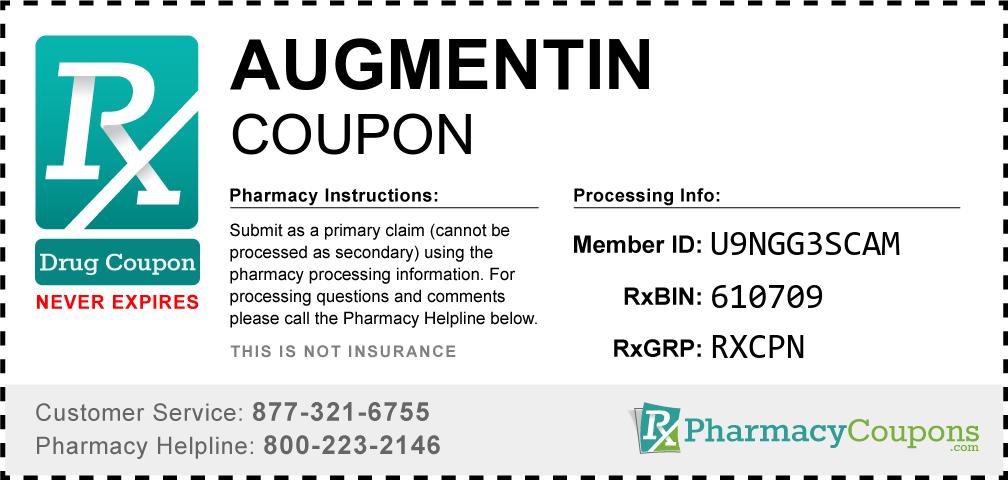 Augmentin Prescription Drug Coupon with Pharmacy Savings