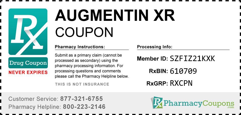 Augmentin xr Prescription Drug Coupon with Pharmacy Savings