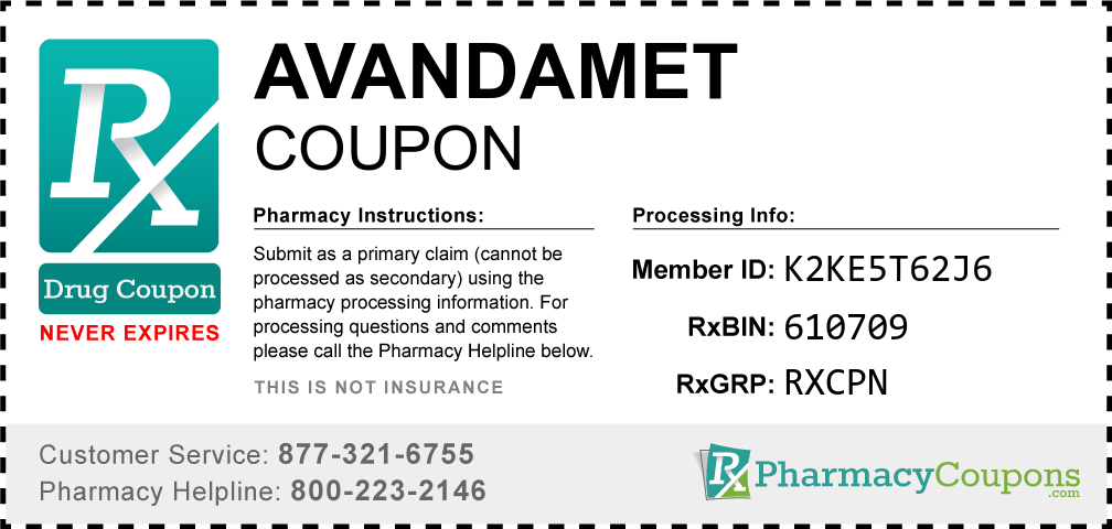 Avandamet Prescription Drug Coupon with Pharmacy Savings
